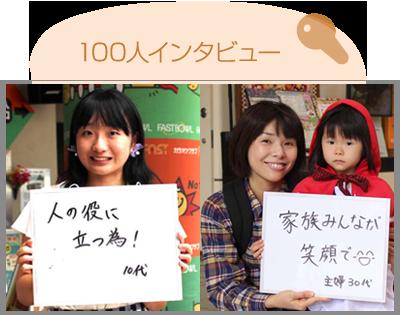 100人インタビュー